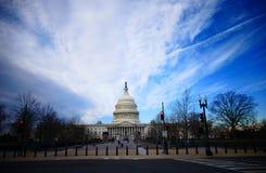 Washington DC, Stany Zjednoczone Luty 2nd 2017 - Wzgórze Kapitolu b Obraz Stock