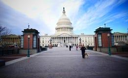 Washington DC, Stany Zjednoczone Luty 2nd 2017 - Wzgórze Kapitolu b Zdjęcia Stock