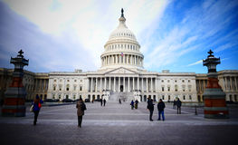 Washington DC, Stany Zjednoczone Luty 2nd 2017 - Wzgórze Kapitolu b Zdjęcie Stock