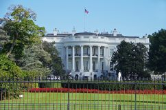 Washington DC Stany Zjednoczone, Wrzesień, - 27, 2017: Biały dom w washington dc, Stany Zjednoczone Zdjęcie Stock