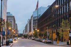 Washington dc strret scene Royalty Free Stock Images