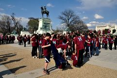 Washington, DC: Studenti a Grant Memorial Immagine Stock Libera da Diritti