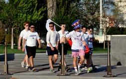 Washington, DC: Students at Capitol Plaza Stock Images