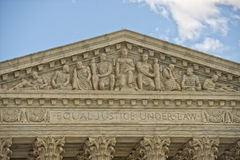 Washington DC Supreme Court facade Stock Photo