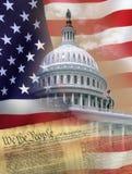 Washington DC - Symbolen van de V.S. Royalty-vrije Stock Afbeeldingen