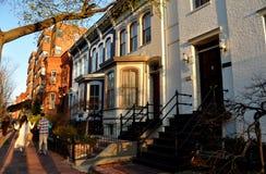 Washington, DC: 19th Century Capitol Hill East Homes Stock Image