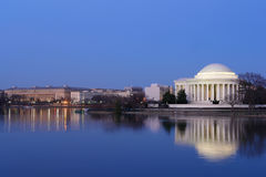 Washington DC - Thomas Jefferson Memorial at night Royalty Free Stock Photo
