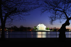 Washington DC - Thomas Jefferson Memorial at night Stock Photography