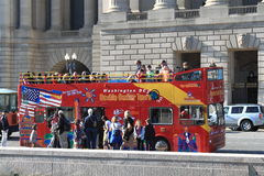 Washington DC Tour Bus Royalty Free Stock Images