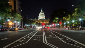WASHINGTON DC, U.S.A. - 24 OTTOBRE 2016: Vista della via del Campidoglio degli Stati Uniti Fotografie Stock Libere da Diritti