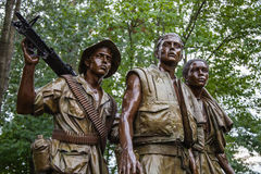 Washington DC, United States of America - June 20, 2009: Close-u. P of 'The Three Soldiers' statue by Frederick Hart. Located in the Vietnam Veterans Memorial in royalty free stock image