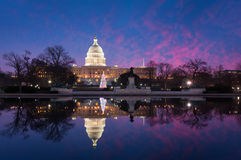 Washington DC United States Capitol Building Christmas Reflections Stock Image