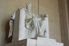 Abraham Lincoln Memorial in Washington DC United States royalty free stock image