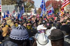 Free WASHINGTON DC, UNITED STATES - Nov 15, 2020: Proud Boys At MILLION MAGA MARCH Stock Photo - 202164790