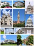 Washington DC. United States travel collage with landmarks and architecture stock photography