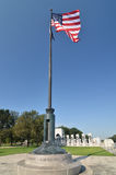 Washington DC, US flag and WWII Memorial Stock Photography