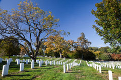 WASHINGTON DC - US soldier's tombstones at Arlington Royalty Free Stock Photos