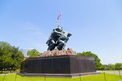 Marine Corps War Memorial in Arlington, VA, USA. Stock Photos