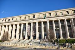 Washington DC, USA Gatasikt och byggnad av den Washington staden Fotografering för Bildbyråer
