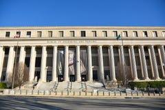 Washington DC, USA Gatasikt och byggnad av den Washington staden Royaltyfria Bilder