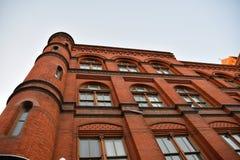 Washington DC, USA Gatasikt och byggnad av den Washington staden Royaltyfria Foton