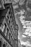 Washington DC, USA. Historic SunTrust building with the clock tower. Black and white version of the shot. Royalty Free Stock Image