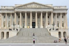 US Senate. WASHINGTON DC, USA - JUNE 13, 2013: People visit the Senate at US Capitol in Washington DC. 18.9 million tourists visited capital of the United States royalty free stock image