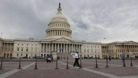 Washington DC. WASHINGTON, USA - JUNE 14, 2013: People visit the US Capitol in Washington DC. 18.9 million tourists visited capital of the United States in 2012 stock video