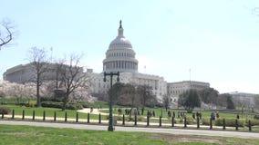 Washington DC, usa - Kapitałowy budynek w wiośnie z Śródpolną wycieczką zbiory