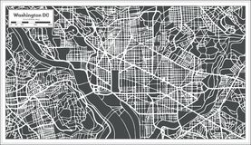 Washington DC USA-Karte im Retrostil vektor abbildung