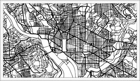 Washington DC USA Map in Black and White Color. Vector Illustration. Outline Map vector illustration