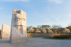 WASHINGTON DC, USA - MARCH 24, 2016: Martin Luther King Jr Memorial during cherry blossom festival in Washington DC. Stock Images