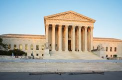 United States Supreme Court Building in Washington US. Washington DC, USA - May 3, 2015: United States Supreme Court Building is located in Washington D.C., US stock photography