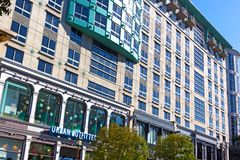 Washington DC urban architecture on a sunny day in autumn, USA royalty free stock photos
