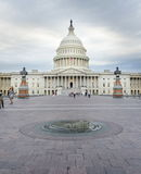 WASHINGTON DC, USA - OCTOBER 21, 2016: United states Capitol dome panorama on a cloudy day stock photos