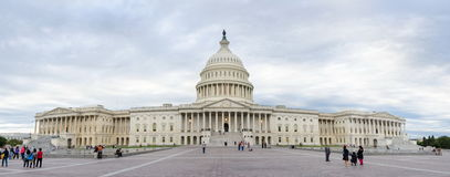 WASHINGTON DC, USA - OCTOBER 21, 2016: United states Capitol dome panorama on a cloudy day royalty free stock photo