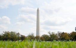 WASHINGTON DC, USA - OCTOBER 20, 2016 Washington monument rising stock photo