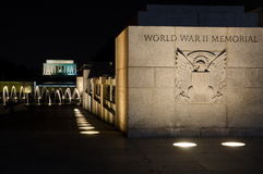 WASHINGTON DC, USA - OCTOBER 21, 2016 World war 2 memorial Washington stock images