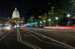 WASHINGTON DC, USA - 24. OKTOBER 2016: US-Kapitolstraßenansicht Lizenzfreie Stockfotos