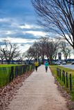 Washington DC, USA. People jogging around National Mall and Memorial parks. Washington DC, USA. People jogging around National Mall and Memorial parks Stock Photography