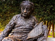 Albert Einstein statue stock image