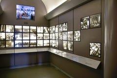 Washington DC, USA Tillträdeskorridor till Abraham Lincoln med två rum som utrustas med skärmar Fotografering för Bildbyråer