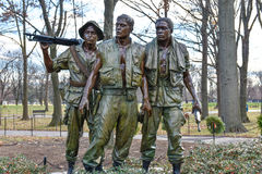 Washington DC, USA. Vietnam Veterans Memorial. Stock Photos