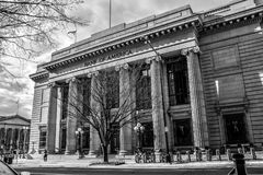 Washington DC, USA. View of Bank of America in black and white. Washington DC, USA. View of Bank of America in black and white Stock Photos