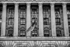Washington DC, USA. View of Department of Commerce in black and white. Washington DC, USA. View of Department of Commerce in black and white Stock Image