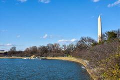 Washington DC, USA. Washington Monument on the National Mall. Washington DC, USA. Washington Monument on the National Mall Stock Photos