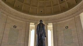 Washington DC, usa Widok Thomas Jefferson pomnik zdjęcie royalty free