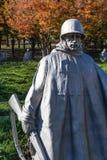 Washington DC utomhus Autumn Soldiers för vägg för minnesmärke för koreanskt krig arkivfoton