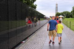 Washington DC - Vietnam memorial Royalty Free Stock Images