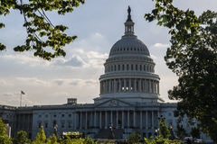 View of the Capitol. Washington DC, view of the US Capitol Stock Image